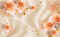 Фотообои 3D  Композиция с бежевыми розами  300*240см