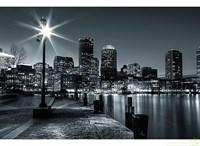 13-0280-WB Декор. панно на флизе Ночь над Нью-Йорком 2,5*1,3м