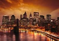 41-0024-WV Декор. панно на флизе Бруклинский мост 4*2,8м