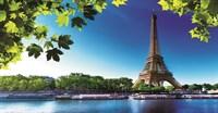13-0289-WL Декор. панно на флизе Летний Париж 2,5*1,3м