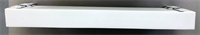 Карниз 2-х рядн Цезарь Плюс 50 мм 3,6 м белый