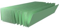 Подложка Гармошка (5,25м2) Зеленая 1050*250*3