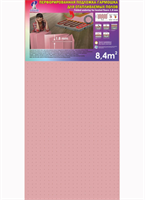 Подложка Гармошка (8,4м2) Розовая перфорированная 1050*500*1,8