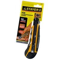 Набор STAYER Нож  PROFI  с запасн. сегмент. лезвиями, 8шт, самофикс., 18мм