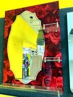Зеркало №3212 (красн. розы) 50х70 с полками Китай (№1250)