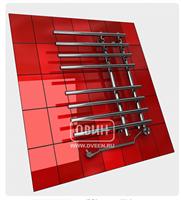 Полотенцесушитель ДВИН L primo electro высота-80, ширина-55 1 -3/4 -1/2  Электрический ТЭН справа
