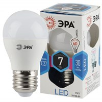 лампа светод. ЭРА LED smd P45-7w-840-E27