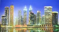 Фартук-панно Вечерний Дубай цветной 602х1002мм