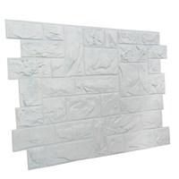 Панель ПВХ Камень Пиленый настоящий белый 0,4мм 955х480
