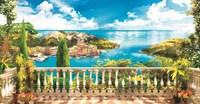 13-0317BL Декор. панно на флизе Греческий балкончик 2,5*1,3м